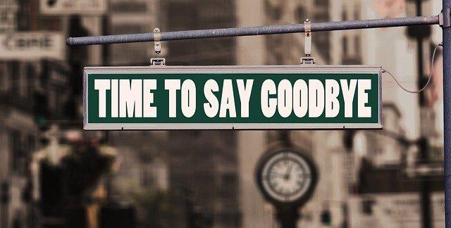 čas na rozloučení